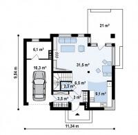 Каркасный дом №134Р2