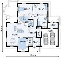 Каркасный дом №202Р