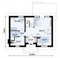 Каркасный дом №117Р