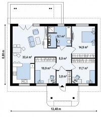 Каркасный дом №92Р3