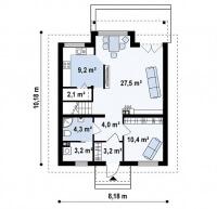 Каркасный дом №127Р3