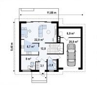 Каркасный дом №139Р