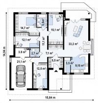 Каркасный дом №159Р3
