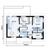Каркасный дом №181Р4