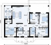 Каркасный дом №111Р3