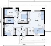 Каркасный дом №100Р3