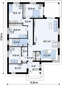 Каркасный дом №156Р2