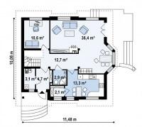 Каркасный дом №169Р