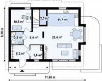 Каркасный дом №147Р2