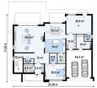 Каркасный дом №433Р