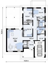Каркасный дом №166Р2