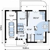 Каркасный дом №189Р2