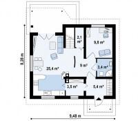 Каркасный дом №117Р2