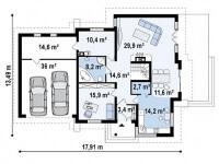 Каркасный дом №267Р