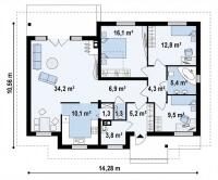 Каркасный дом №111Р4