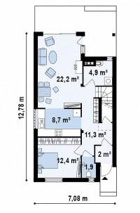 Каркасный дом №126Р2