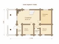 Дом из бревна №121Б