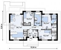 Каркасный дом №115Р2