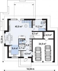 Каркасный дом №239Р
