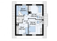 Каркасный дом №119Р3