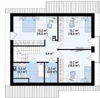 Каркасный дом №147Р3