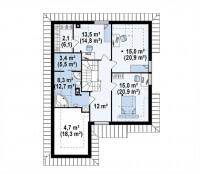 Каркасный дом №216Р2
