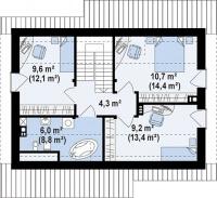 Каркасный дом №111Р6