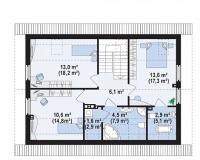 Каркасный дом №147Р4