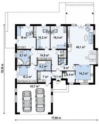 Каркасный дом №202Р3