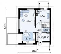 Каркасный дом №129Р