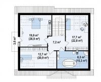 Каркасный дом №188Р2