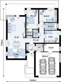 Каркасный дом №165Р