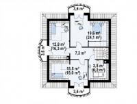 Каркасный дом №156Р