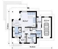 Каркасный дом №226Р2