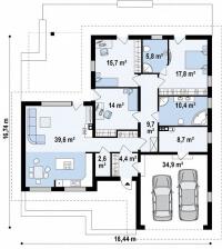 Каркасный дом №169Р3