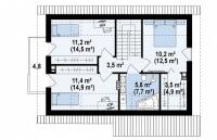 Каркасный дом №120Р3