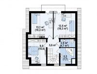 Каркасный дом №135Р2