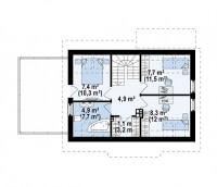 Каркасный дом №128Р2