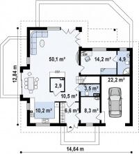 Каркасный дом №260Р