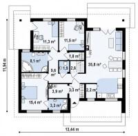 Каркасный дом №111Р2