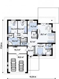 Каркасный дом №176Р2