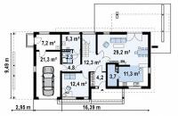 Каркасный дом №192Р2