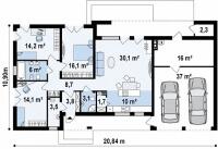 Каркасный дом №167Р2