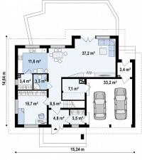 Каркасный дом №263Р