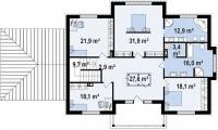 Каркасный дом №354Р
