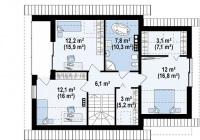 Каркасный дом №165Р4