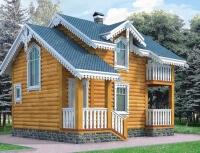 Дом из бревна №72Б