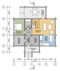 Дом из бруса №154К
