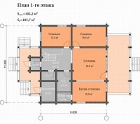 Дом №186к из клееного бруса