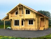 Дом из бревна №154Б